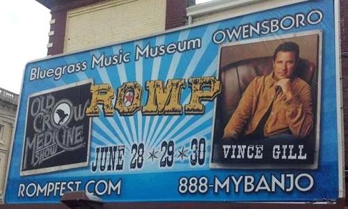 Romp Music Festival BillBoard
